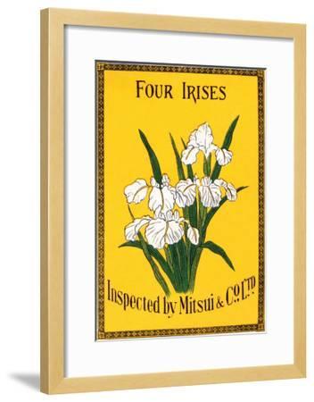 Four Irises--Framed Art Print