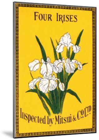 Four Irises--Mounted Art Print