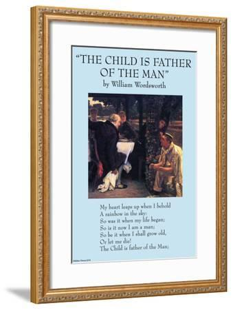 Child If Fathe of the Man--Framed Art Print