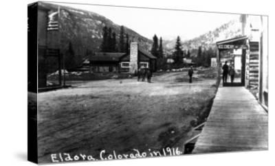 Eldora, Colorado - Street Scene-Lantern Press-Stretched Canvas Print