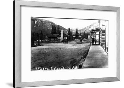 Eldora, Colorado - Street Scene-Lantern Press-Framed Art Print