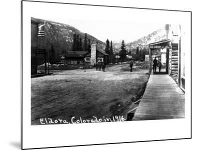 Eldora, Colorado - Street Scene-Lantern Press-Mounted Art Print