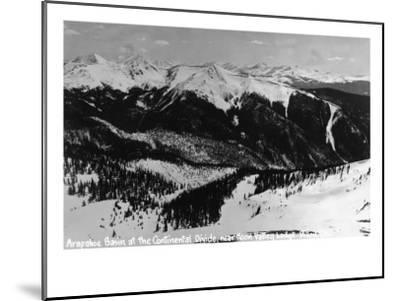 Dillon, Colorado - Arapahoe Basin at Continental Divide-Lantern Press-Mounted Art Print
