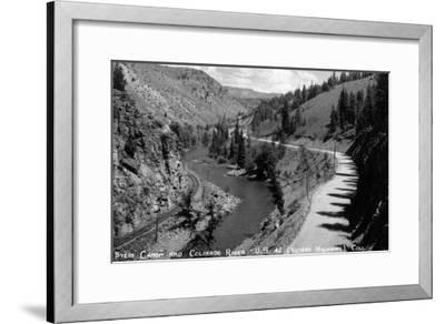 Colorado - Byers Canyon and Colorado River-Lantern Press-Framed Art Print