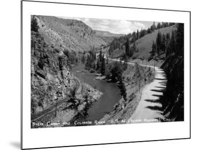 Colorado - Byers Canyon and Colorado River-Lantern Press-Mounted Art Print