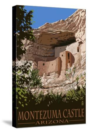 Montezuma Castle, Arizona-Lantern Press-Stretched Canvas Print