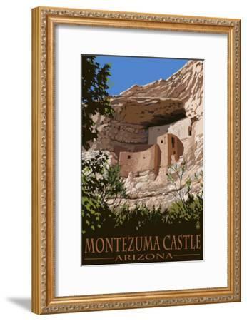 Montezuma Castle, Arizona-Lantern Press-Framed Art Print