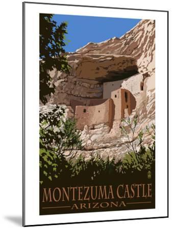 Montezuma Castle, Arizona-Lantern Press-Mounted Art Print
