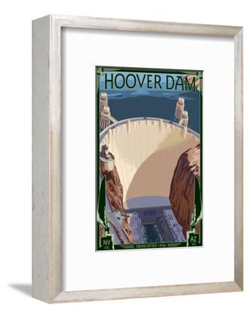 Hoover Dam Aerial-Lantern Press-Framed Art Print