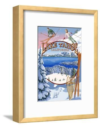 Lake Tahoe, CA Winter Views-Lantern Press-Framed Art Print