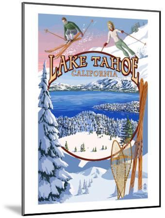 Lake Tahoe, CA Winter Views-Lantern Press-Mounted Art Print