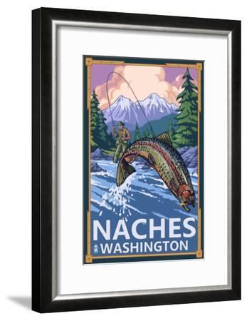 Naches, Washington - Fisherman-Lantern Press-Framed Art Print