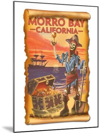 Morro Bay, CA - Pirate Plunder-Lantern Press-Mounted Art Print