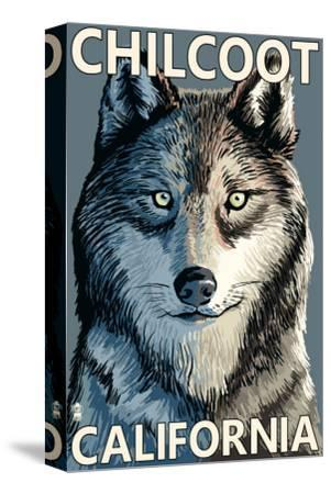 Chilcoot, California - Wolf Face-Lantern Press-Stretched Canvas Print