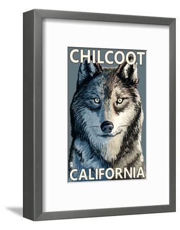 Chilcoot, California - Wolf Face-Lantern Press-Framed Art Print