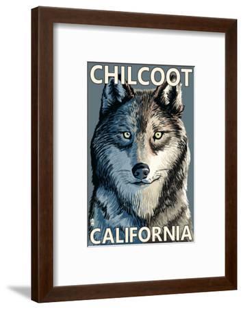 Chilcoot, California - Wolf Face-Lantern Press-Framed Art Print