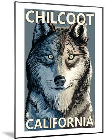 Chilcoot, California - Wolf Face-Lantern Press-Mounted Art Print
