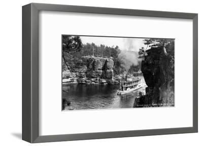 Wisconsin Dells, Wisconsin - High Rock from Romance Cliff, Steamer-Lantern Press-Framed Art Print