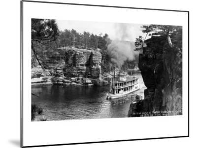 Wisconsin Dells, Wisconsin - High Rock from Romance Cliff, Steamer-Lantern Press-Mounted Art Print