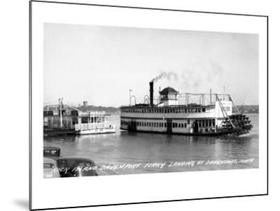 Davenport, Iowa - Rock Island-Davenport Ferry Landing-Lantern Press-Mounted Art Print