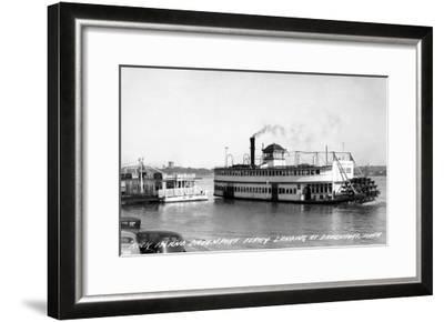 Davenport, Iowa - Rock Island-Davenport Ferry Landing-Lantern Press-Framed Art Print