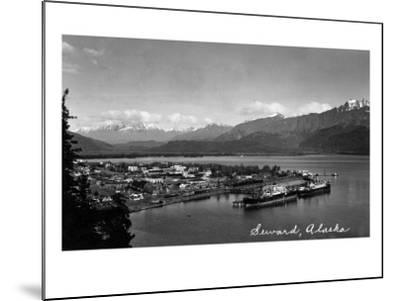 Seward, Alaska - Panoramic View of Town and Harbor-Lantern Press-Mounted Art Print
