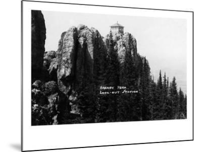 Black Hills Nat'l Forest, South Dakota - Harney Peak Look-out Station-Lantern Press-Mounted Art Print