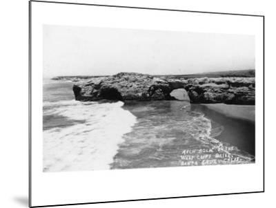 Santa Cruz, California - View of Arch Rock along West Cliff Drive-Lantern Press-Mounted Art Print