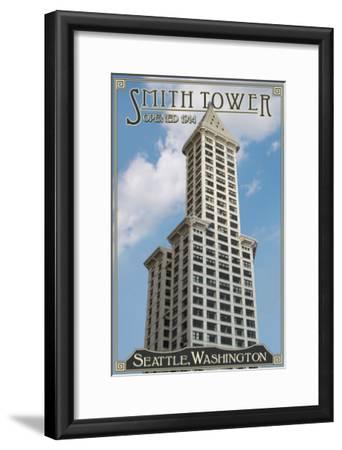 Smith Tower - Seattle, Washington - Exterior View 1-Lantern Press-Framed Art Print