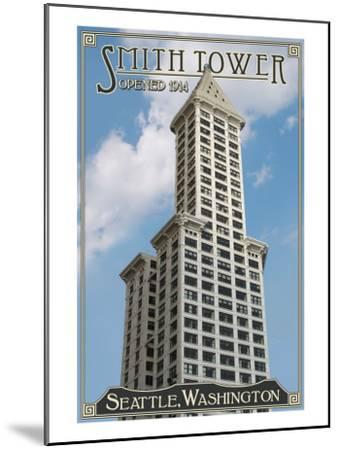 Smith Tower - Seattle, Washington - Exterior View 1-Lantern Press-Mounted Art Print