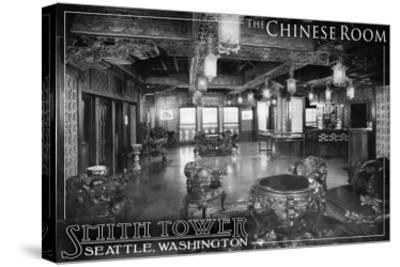 Smith Tower - Seattle, Washington - Chinese Room-Lantern Press-Stretched Canvas Print
