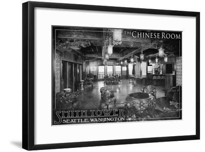 Smith Tower - Seattle, Washington - Chinese Room-Lantern Press-Framed Art Print
