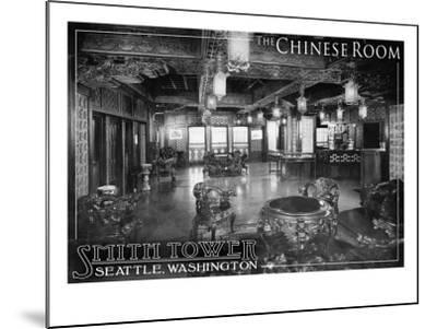 Smith Tower - Seattle, Washington - Chinese Room-Lantern Press-Mounted Art Print
