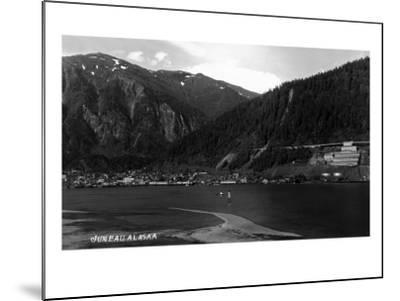 Juneau, Alaska - Panoramic View of Town from Water-Lantern Press-Mounted Art Print