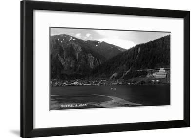 Juneau, Alaska - Panoramic View of Town from Water-Lantern Press-Framed Art Print