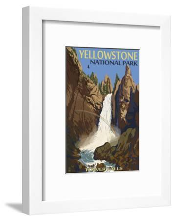 Tower Falls - Yellowstone National Park-Lantern Press-Framed Art Print