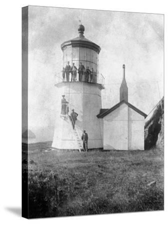 Cape Meares Lighthouse, Oregon No.2-Lantern Press-Stretched Canvas Print