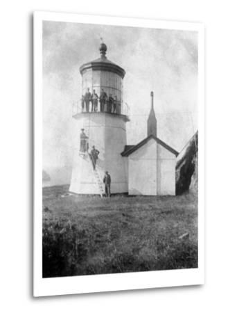 Cape Meares Lighthouse, Oregon No.2-Lantern Press-Metal Print