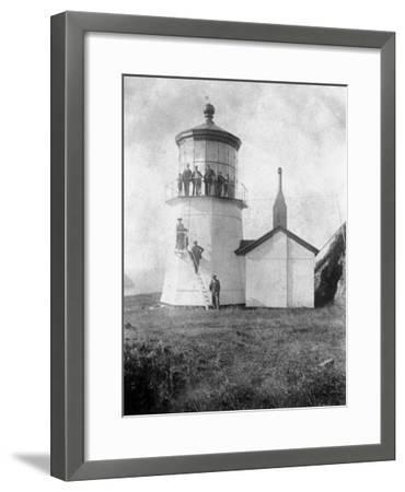 Cape Meares Lighthouse, Oregon No.2-Lantern Press-Framed Art Print