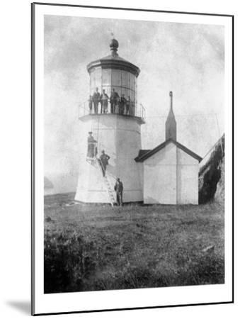 Cape Meares Lighthouse, Oregon No.2-Lantern Press-Mounted Art Print
