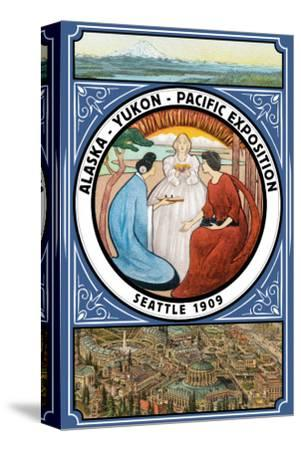Alaska-Yukon-Pacific 1909 Exposition - Seattle, WA-Lantern Press-Stretched Canvas Print