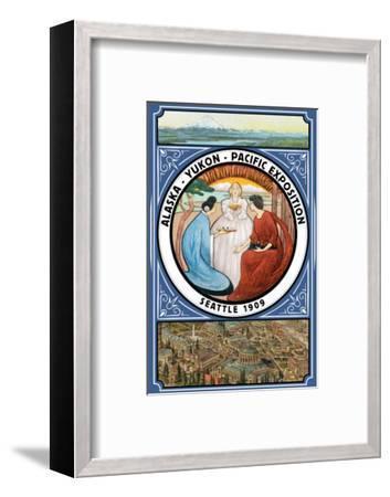 Alaska-Yukon-Pacific 1909 Exposition - Seattle, WA-Lantern Press-Framed Art Print