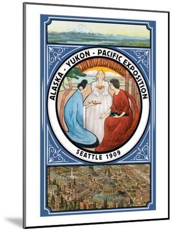 Alaska-Yukon-Pacific 1909 Exposition - Seattle, WA-Lantern Press-Mounted Art Print
