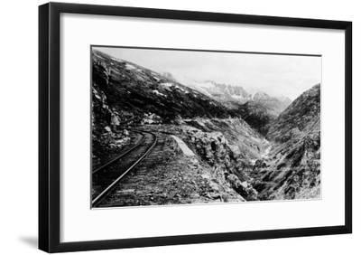 Alaska - View of Dead Horse Gulch along White Pass and Yukon Route-Lantern Press-Framed Art Print