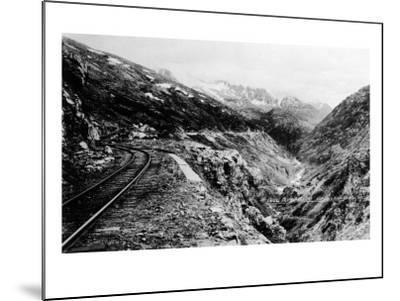 Alaska - View of Dead Horse Gulch along White Pass and Yukon Route-Lantern Press-Mounted Art Print