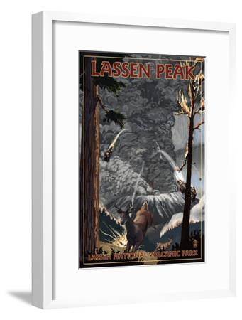 Lassen Peak, California - Ancient Eruption-Lantern Press-Framed Art Print