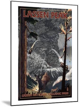 Lassen Peak, California - Ancient Eruption-Lantern Press-Mounted Art Print