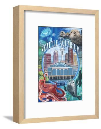 Seattle Aquarium - Seattle, WA-Lantern Press-Framed Art Print