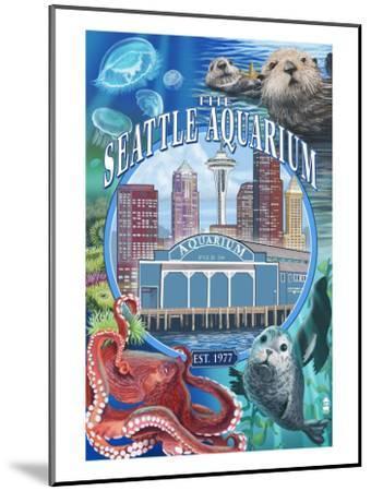 Seattle Aquarium - Seattle, WA-Lantern Press-Mounted Art Print