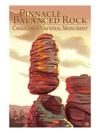 Chiricahua National Monument - Pinnacle Balanced Rock-Lantern Press-Framed Art Print